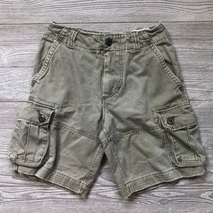 Abercrombie&Fitch Green Cargo Shorts Youth 10 L95